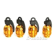 4 Tire Wheel Grenade Valve Cap for Harley Electra Street Road Glide King Touring