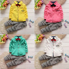 Toddler Kids Baby Boys Outfits Long Sleeve T-shirt Tops + Pants Clothes Set