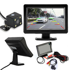 4.3'' TFT LCD Car Rear View Mirror Monitor+Night Vision Backup Reverse Camer UK