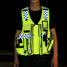 Mens High Visibility Reflective Safety Vest Heavy Duty Security Stripes Jacket