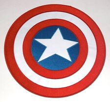 "CAPTAIN AMERICA shield LARGE 10"" BACK PATCH Marvel Comics p-mvl-18-x Iron on sew"