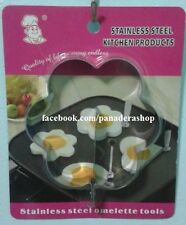 Flower Shape Bento Stainless Steel Egg Ring Mold Pancake Molder