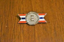 WWII Sterling Silver US Army Navy Production Award Medal Pin Smaller Size