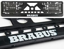 2x BRABUS LOGO EXCLUSIVE EUROPEAN LICENSE NUMBER PLATE SURROUNDS HOLDERS