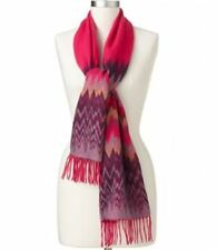 Croft & Barrow Softer Than Cashmere Zigzag Muffler Scarf, Pink & Purple FREE S&H