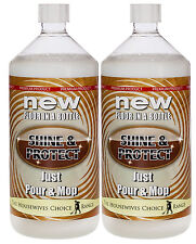 Shine and Protect Floor Polish  2x1ltr New Instant floor shine NEW