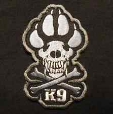 K9 & CROSSBONES KILLER ATTACK POLICE DOG ARMY SWAT VELCRO® BRAND FASTENER PATCH
