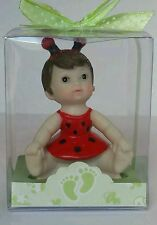 LADY BUG RED BABY SHOWER BIRTHDAY CAKE TOPPER PARTY DECORATION FAVOR FIGURINE