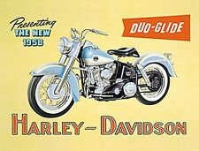 Harley Davidson Duo-Glide Steel Sign 410mm x 300mm   (fd)      REDUCED!