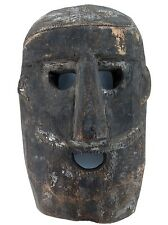 cLATE 1800s MIDDLE HILLS AREA HIMALAYAN CARVED WOODEN MASK, VERY IMPRESSIVE! #1