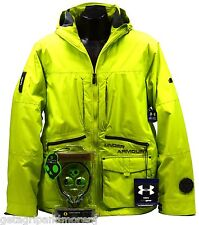 New w/ Tags! UNDER ARMOUR Sonic Vigor JACKET Lime Green RECCO + Headphones SZ: M