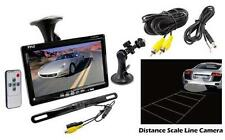 "New Pyle 7"" LCD Window Suction Mount Monitor + License Plate Backup Camera Kit"