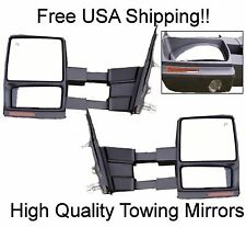 07-14 Ford F150 POWER HEATED Towing Mirrors Telescoping Puddle Light & Signal