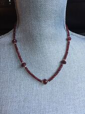 14 Karat Gold  And Ruby Necklace