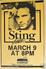 STING 1997 AUSTIN, TEXAS CONCERT TOUR POSTER - The Police, New Wave Music