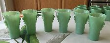 6 Fire King Jadeite Art Deco Table Vases ~ Jadite Green Milk Glass ~ Jade-ite