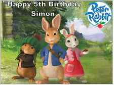 "Peter Rabbit Cake Topper Personalised  Edible Wafer Paper 7.5"" By 10"" A4"