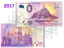 Billet Touristique Zéro Euro Souvenir Abbaye Mont Saint Michel 2017