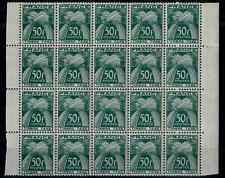 TIMBRES FRANCE 1946/55 TAXE BLOC de 20 n°88  NEUF** COTE 570€ SUPERBE