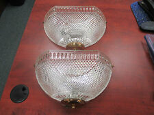 (2) Vintage Clear Glass Shade Wall Light Wall Sconce ,110 volt, 60 Watt type C