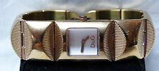 Dolce Gabanna Gorgeous Gold Plated Ladies Watch Bracelet With White Dial & Box