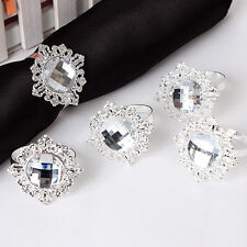 Diamond Napkin Ring Serviette Holder Wedding Banquet Dinner Decor Favor 12pcs