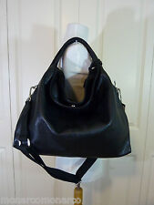 NWT Furla Classic Black/Onyx Pebbled Leather Large Elisabeth Tote Bag $498