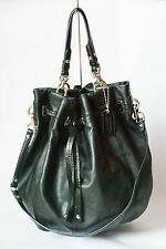 Coach Black Peyton Soft Calf Leather Drawstring Bucket Duffle Bag #14508