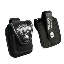 Zippo Harley Davidson Tasche Hülle briquet -Kasten -echtes Leder-Schwarz
