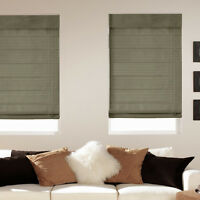 Light Filtering Fabric Roman Shades - Five Colors - Free Shipping