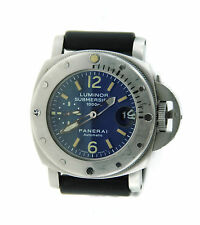 Panerai Luminor Submersible Blue Dial Automatic Stainless Steel Watch PAM 87