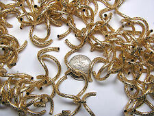 33MM X 2MM PATTERNED GOLD-FILLED CURLY Q BEAD - BAG OF 100 PIECES