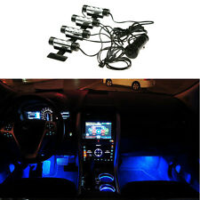 4X3LED Car SUV Charge 12V Interior Floor Decorative Blue Atmosphere Glow Lights