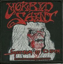 MORBID SAINT-SPECTRUM OF DEATH-WOVEN PATCH-OFFICIAL-THRASH-METAL