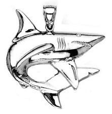 New .925 Sterling Silver Shark Pendant