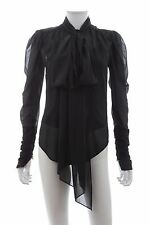 Ralph Lauren Silk Neck-Tie Blouse / Black / RRP: £375.00