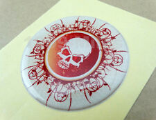 Yamaha Motorcycle Round Skull Skeleton Fuel Gas Tank Fairing Decal Sticker Pad