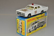 "W554 Matchbox ""Superfast"" #55 Mercury Cougar Police Car A/b"