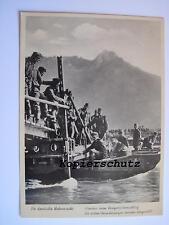 """Originale Postkarte Fotokarte""""Pioniere beim Kriegsbrückenschlag"""""""