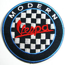 VESPA MODERN Cute Embroidered Iron On Patch Italy Italian Scooter Motorcycle