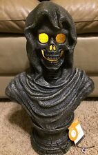 Animated Halloween Props Animated Grim Reaper Talking Lighted Eyes Statue Bust