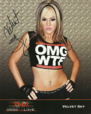 Official TNA Wrestling Velvet Sky Retro Hand Signed 8x10