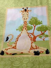 "SusyBee Giraffe Panel fabric 15x44""  Hamil Textiles material quilting Zoe quilt"