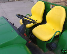 TWO (2) HIGH BACK YELLOW SEATS 625I,825I,855D,550,850I 6X4 JOHN DEERE GATORS #JF