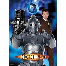 LARGE 10th Dr Doctor Who Lenticular Cyberman Wall Poster - Tennant Dalek Tardis