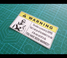 ! WARNING Toolbox Protected by CHOPPER ute truck Sign Reflective Decal Sticker