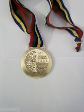 LARGE SIZED OLYMPIC GOLD MEDAL 1992 SUMMER OLYMPICS BARCELONA WITH RIBBON