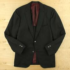 vtg Anderson Little 3/2 roll men's jacket, 40 regular, black gray stripes trad