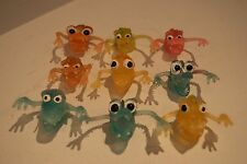 Vintage 60s/70s Lot 9 Jiggler Jiggly Rubber Ugly Monster Finger Puppets Gumball