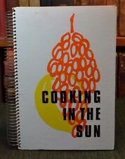 """Cooking in the Sun"" Mediterranean Food Dishes Cyprus Red Cross 1977 2nd Ed"